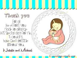 Free Online Thank You Card Printable Baby Shower Thank You Cards Guapamia Co