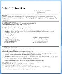 Entry Level Civil Engineering Resume Sample Engineer Orlandomoving Co