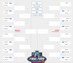 Microsofts March Madness Bracket Here Are Bings Ncaa Basketball