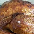 brined and roasted whole turkey