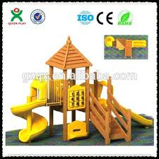 small wooden play structures outdoor slide canada
