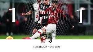 Милан Ювентус смотреть онлайн трансляция матча 13 февраля - видео голов,  Кубок Италии