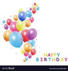 Balloon Birthday Card Design Happy Birthday Card With Colorful Balloon