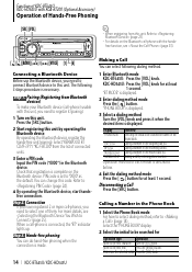 kdc bt645u bluetooth pin kenwood user manual