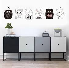 souq cute funny cat wall stickers removable sitting room porch bedroom wall decals animals mural art wallpaper uae