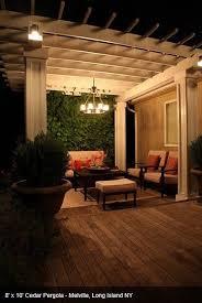 outdoor pergola lighting. Pergola Lighting Can Be A Permanent Outdoor Chandelier. L