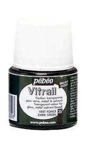 050 035 45ml pebeo vitrail stained glass paint dark green