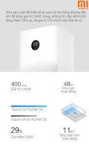 Máy lọc không khí Xiaomi 3H - Mi Air Purifier 3H - Gen 3 - Quốc Tế Quốc Tế