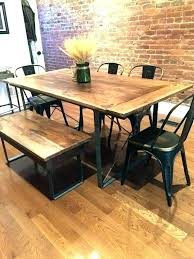 rustic industrial dining table and chairs room set melbourne rus