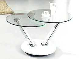 round glass coffee table metal base cool side top contemporary tables