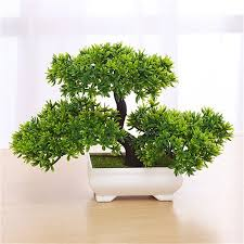 office bonsai tree. Contemporary Office Bonsai Tree In Square Pot  Artificial Plant Decoration For OfficeHome  18cm7in To Office O