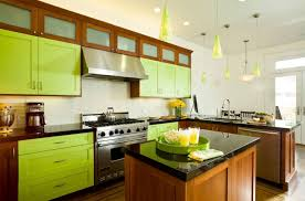 to decorate with green kitchen cabinets