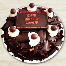 Send Happy Birthday Flaky Black Forest Cake Online By Giftjaipur In