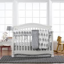 gray elephant 4 piece crib bedding set