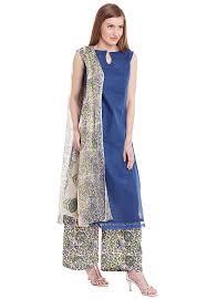 Kota Doria Suits Designs Plain Kota Doria Cotton Pakistani Suit In Blue Kwqt84