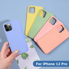 Ốp Điện Thoại Silicone Chống Sốc Cho Iphone 12 Pro Max 12 Mini 6.1 Inch  chính hãng 23,000đ