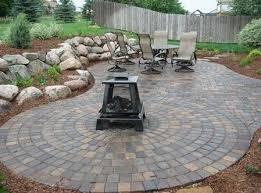 circular paver patio paver patio