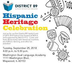 Hispanic family activities Literacy Practices 2018 D89 Family Night Hispanic Heritage Celebration Dakshco Roosevelt Elementary School 2018 D89 Family Night Hispanic