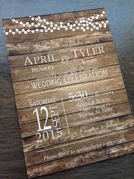 best 25 rustic wedding invitations ideas only on pinterest Rustic Wedding Invitation Cards rustic barn country fall wood background wedding invitation with light strings rustic wedding invitation cardstock