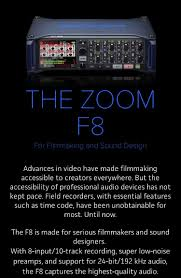 Sound Design Field Recorder Zoom F8 Multi Track Field Recorder Zoom Audio For Video
