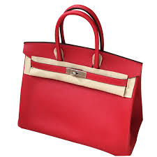 hermes birkin 35. hermès hermes birkin 35 handbags leather red ref.47355