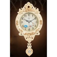wall clocks pendulum wall clock blue