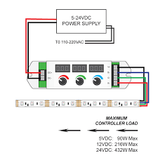 3 knob led controller with rf remote for 12 24vdc rgb led lights Rgb Light Wiring Diagram wiring diagrams thumb Computer RGB Wiring-Diagram