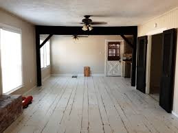 how to paint hardwood floors white image