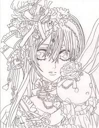 Small Picture Vampire Knight Coloring Pages Coloring Home