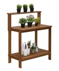outdoor potting shelf