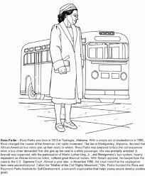 Small Picture Awesome Rosa Parks Coloring Sheets Gallery Coloring Page Design