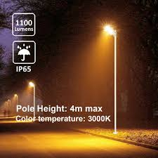 Dawn To Dusk Post Light Details About Solar Street Warm Lights Outdoor Pole Mount Post Lamp 1100lm 3000k Dusk To Dawn