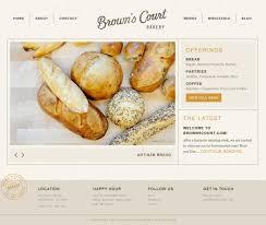 Browns Court Bakery Webdesign Inspiration Www Niceoneilike Com