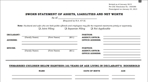 Personal Assets And Liabilities Statement Template Statement Of Assets Liabilities And Net Worth Saln Form