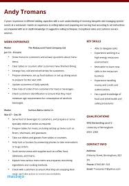 Waitress Resume Example Interesting Waitress Resume Example Athletic Resume Template Elegant Server