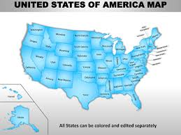 Us Map Editable In Powerpoint Usa Country Editable Powerpoint Maps With States And Counties
