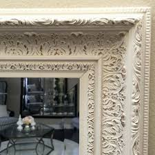 white antique wall mirror elegance ornate embossed antique white gold framed wood wall mirror west frames kole white oval vintage wall mirror