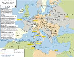 map of wwii  major operations in europe