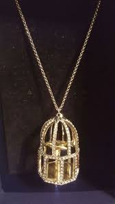 new swarovski birdcage necklace
