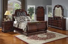 Sleigh Bedroom Furniture Sets Sleigh Bedroom Furniture Set With Leather Headboard 119 Xiorex