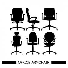 free office furniture. chairs silhouettes free office furniture