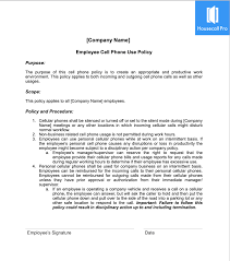 Cell Phone Policy Template Housecall Pro
