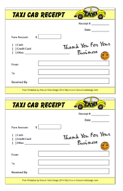 Taxi Bill Template Free Receipt Templates Make Your Receipts