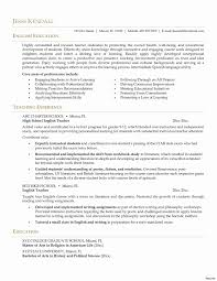 Resume Format For Teachers Pdf Inspirational English Teacher Resume