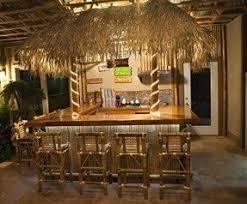 Enduring Bamboo Bar Stools - Set Of Two - Tropical, Exotic, Tiki, Elegant