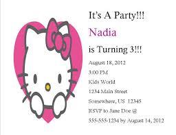 Hello Kitty Party Invitation Hello Kitty Birthday Invitation 3 From Southern Desktop Publishing