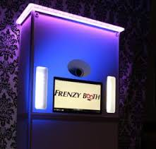 A video booth rental available from Frenzy Booth.