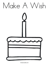 Small Picture Make A Wish Coloring Page Twisty Noodle