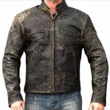 mens distressed hooligan leather jacket distressed leather jackets