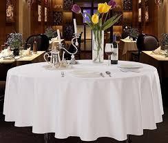 tablecloth round 108 275cm white treb sp